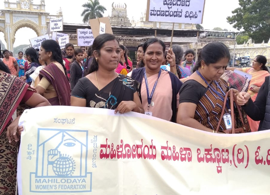 March for women in Kuzhivilai (India)